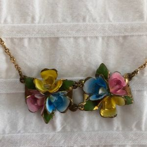 Vintage enamel choker necklace
